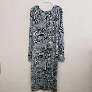 Ashley Stewart Black Grey Dress SZ14/16